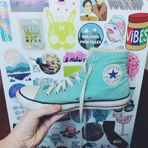 Converse High-Top Sneakers in Mint (9)